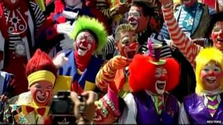 Clowns at convention