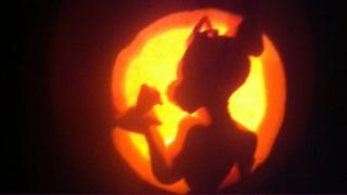Tiana from the Princess and the Frog is shaped in a pumpkin