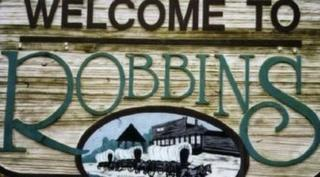 Welcome to Robbins sign
