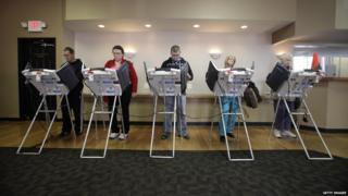 Voters cast their ballots in Toledo, Ohio