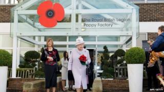 Queen visiting Poppy Factory