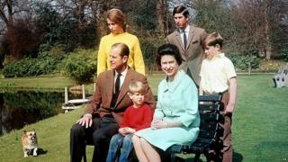 Queen, Duke and family in 1968.