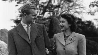 Queen and Duke in 1947
