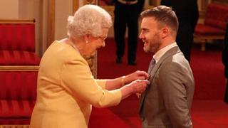 The Queen and Gary Barlow
