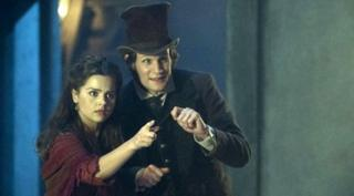 The Doctor and new companion Clara
