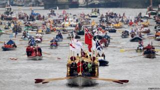 The Diamond Jubilee River Pageant