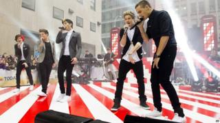 One Direction perform on NBC's Today programme in New York City.