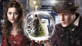 Doctor Who Christmas special 2012 with Matt Smith and Jenna-Louise Coleman.