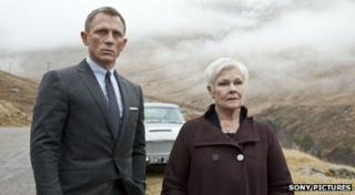 Daniel Craig and Judi Dench in Skyfall.