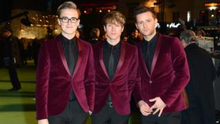 McFly arrive at premiere