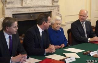 The Queen attended the Cabinet meeting