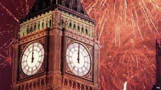 Big Ben on New Year's Day