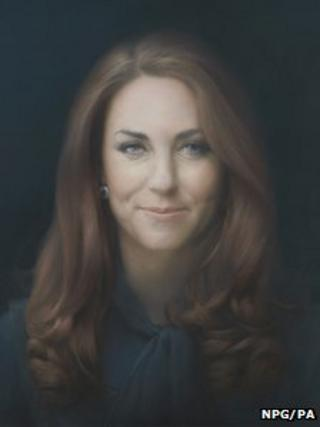 Portrait of the Duchess of Cambridge at the National Portrait Gallery in London.