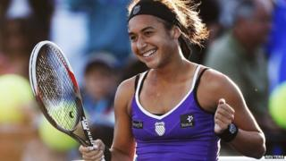 Heather Watson after winning her first match at the 2013 Australian Open