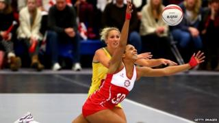 England and Australia netball players