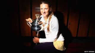 Victoria Azarenka came back from a set down to win the Australian Open.