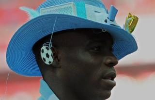 Mario Balotelli in a hat