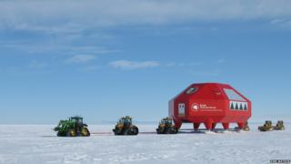 Halley VI research station and tractors