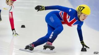 Short-track speed skater Elise Christie
