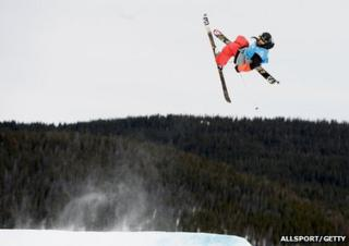 Freestyle skier James Woods