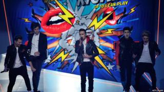 One Direction rocked the Brits with a performance of their comic relief single 'One Way or Another'