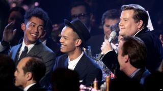 Rizzle Kicks even got in on the act, as presenter James Corden chatted to them in the crowd. Didn't they look smart!?