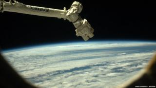 Canadarm2 robotic arm on the International Space Station.