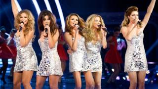 Girls Aloud Performing their single Something New.