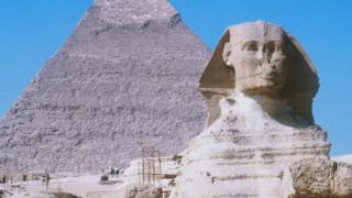 Picture of pyramid and sphinx