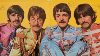 Beatles signed album cover