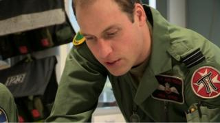 Prince William at work as an RAF helicopter pilot