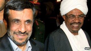 2011 - Ahmadinejad on a visit to Khatroum, Sudan