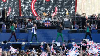 JLS performing at the Queens Diamond Jubilee Concert