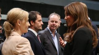 JK Rowling chats to the Duchess of Cambridge
