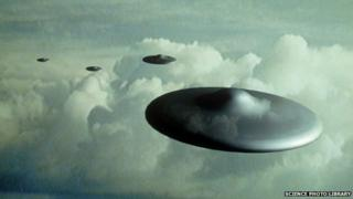 Artist's impression of a UFO