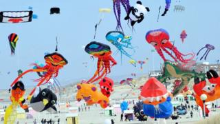 Colourful kites