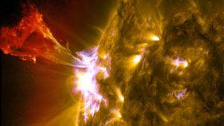 Solar filament and flare on 3 May 2013