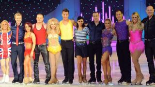 Cast of the Dancing On Ice Tour 2012