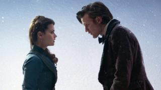 Matt Smith's Doctor and his current companion Clara Oswald