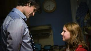 Matt Smith's Doctor with a young Amy Pond