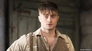 Daniel Radcliffe in character as Billy Craven in The Cripple of Inishmaan.