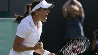 Laura Robson wins her third round match