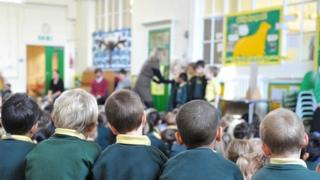Primary school children in assembly