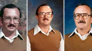 Dale Irby is shown in a series of yearbook photos wearing the same brown sweater over a white shirt.