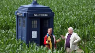 Former Doctors Tom Pearcy and Colin Baker