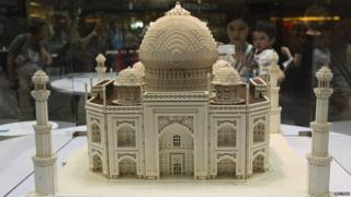 Lego model of Taj Mahal