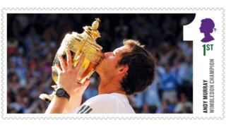 Stamp of Andy Murray