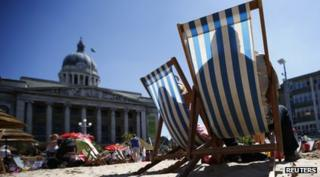People sitting on deckchairs