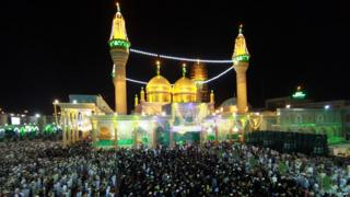 Worshippers attend a Lailat al-Qadr
