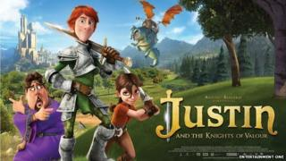 Film poster from Justin and the Knights of Valour